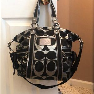 Authentic COACH pocketbook! Black and silver!